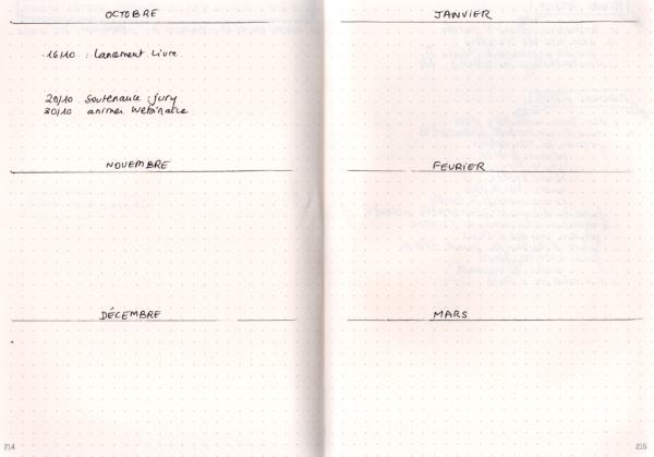 Bullet journal - semestre